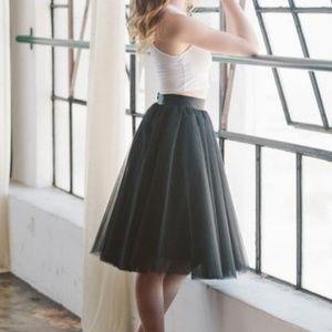 Space 46 Wendy Midi Tulle Tutu Black Skirt XS